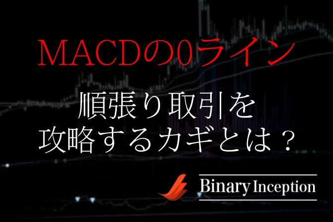 MACDの0ラインを利用したバイナリー取引攻略手法!順張りで勝率を上げる手法を解説!